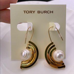 Tory Burch Spinning Pearl Earrings